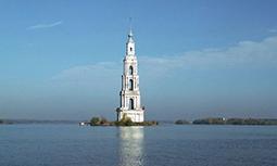 Калязин - плавающая колокольня Никольского собора
